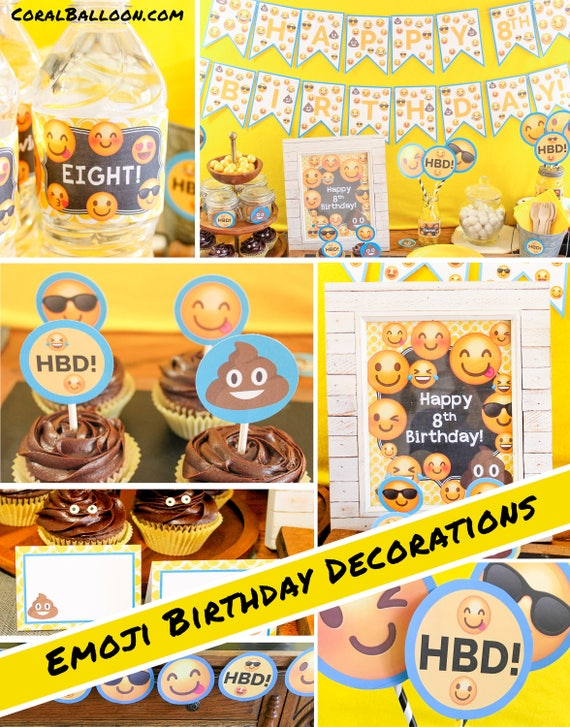 Items Similar To Emoji Birthday Decorations Boy Party Girl Poop Printable