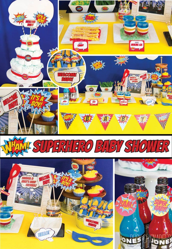 Attractive Superhero Baby Shower Decorations Superhero Shower Baby