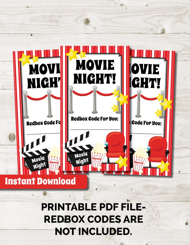 graphic regarding Redbox Printable called Redbox Printable, Reward Card Redbox Reward Tag, Video Reward Basket, fast down load