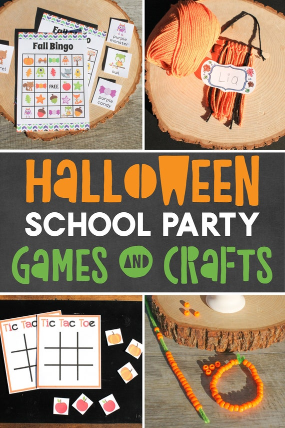Halloween Party Games And Crafts For Kids Class Party Grades