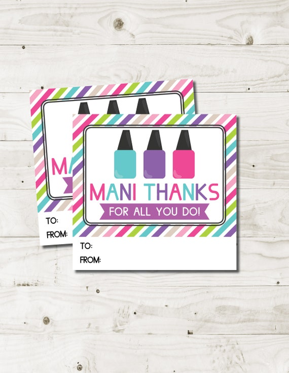 image about Mani Thanks Free Printable titled Trainer Appreciation Present Mani Due Printable Mani Owing