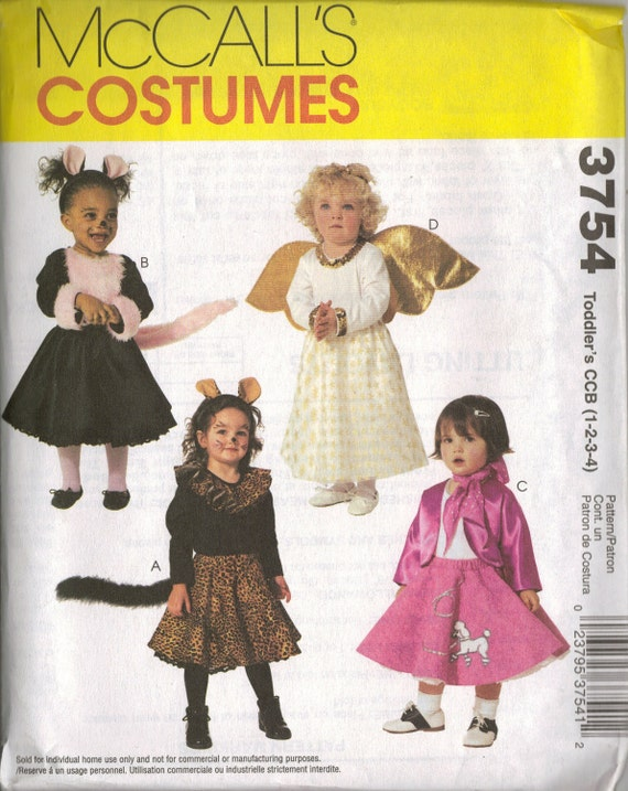 McCall\'s Costume Sewing Pattern 3754 Toddler\'s Cat | Etsy