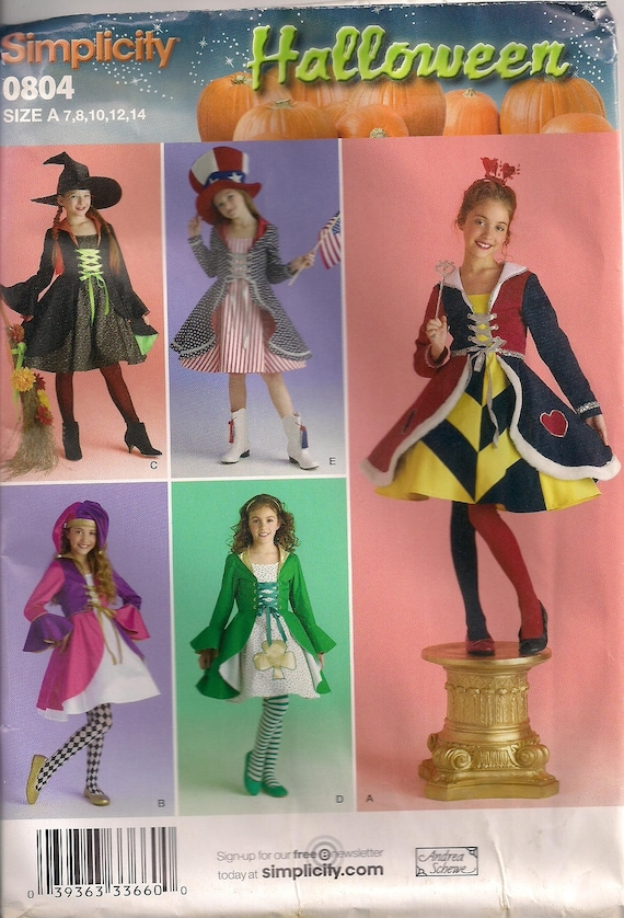 Einfachheit-Kostüm nähen Muster 0804 aka 2834 Mädchen | Etsy