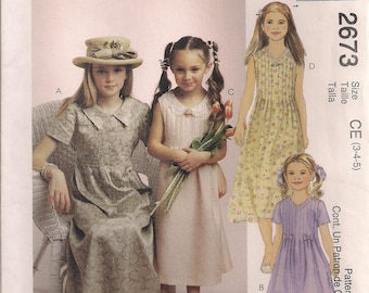 McCall's Sewing Pattern 2673 - Children's and Girls' Dresses (3-5, 6-8)