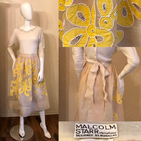 Vintage 1970's Malcolm Starr Rizkallah Mod Flower