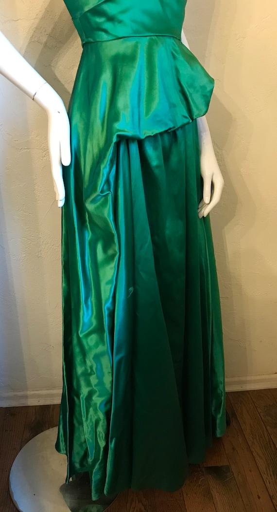 1940's 1950's Ceil Chapman Emerald Green Evening … - image 6