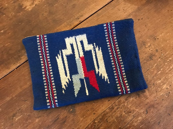 1940's Ganscraft Blue Chimayo clutch purse