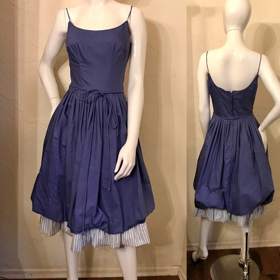 Vintage 1950's Periwinkle Blue Sundress Sun Dress