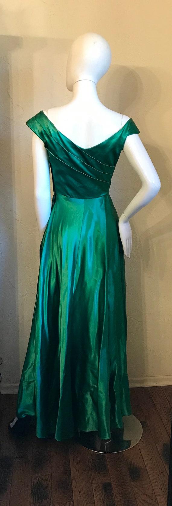 1940's 1950's Ceil Chapman Emerald Green Evening … - image 7