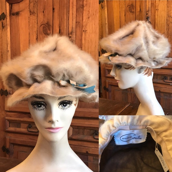 1960's Styled by Coralie Tan Fur Hat - image 1