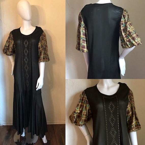 1920's 30's Art Deco Studded Jersey knit Flapper d