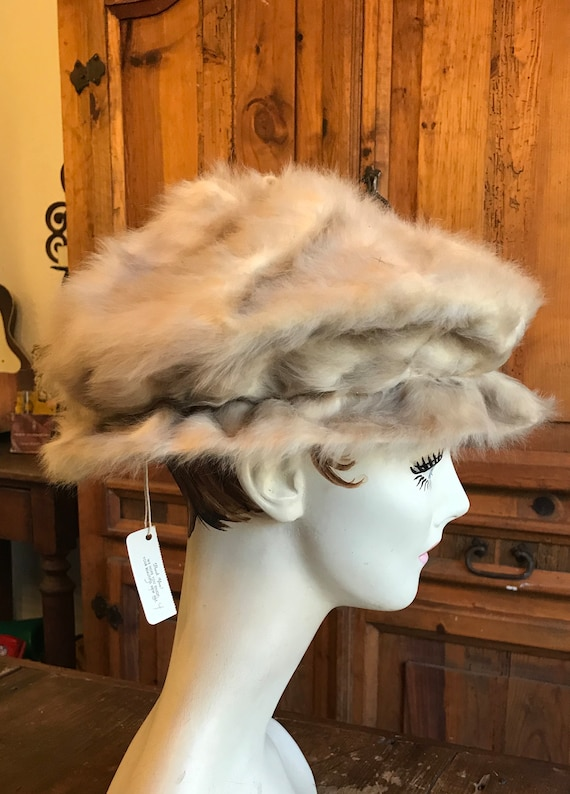 1960's Styled by Coralie Tan Fur Hat - image 6