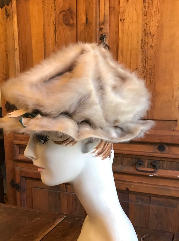 1960's Styled by Coralie Tan Fur Hat - image 4