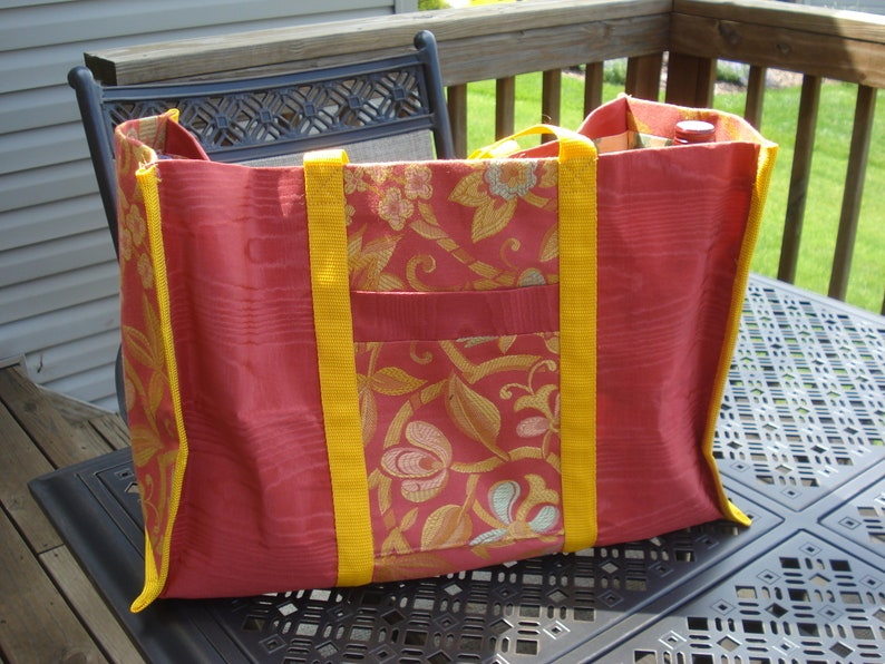 Lovely coral colored large versatile  tote
