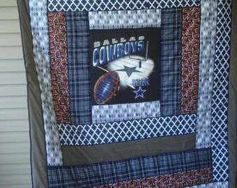 Fan Favorite Dallas Cowboys Quilted Flannel Blanket