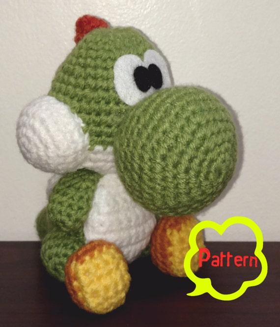 Pattern Crochet Yoshi Amigurumi Etsy