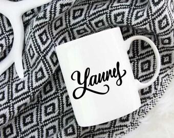 Laurel Yanny Coffee Mug Funny Meme Cup Gift Hand Lettered