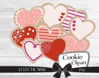 Valentines Day Cookie Clipart | Holiday Food Illustration | Desserts Digital Sticker