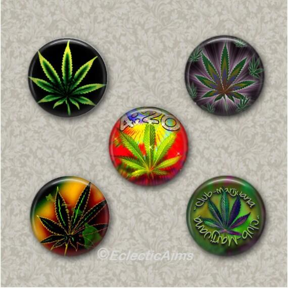 Magnet or Pocket Mirror Pinback Button Pot Leaf Button  Pothead Humor  Marijuana Magnet  I Believe in a HIGHER Power
