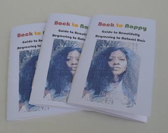 Guide to Natural Hair, Black Hair Care, All Natural Hair Care, Hair Care Regimen, Wash Day, 80 page zine, Natural hair journal, nappy hair