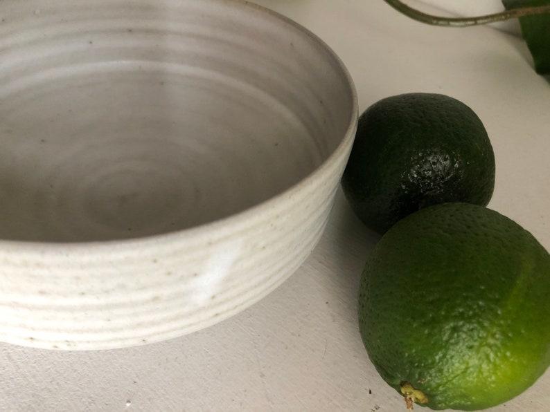 White Ramen Bowl  Modern Stoneware