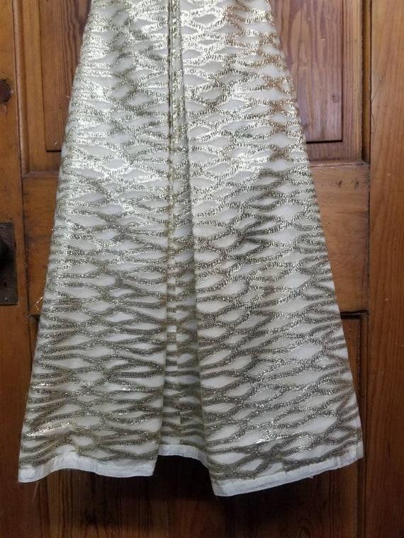 60's ROMANTICA by VICTOR COSTA Dress // Metallic … - image 6