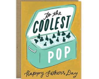 Father's Day Card, Fathers Day, Fathers Day Gift, Card for dad, Coolest Dad, Card for dad from daughter, Card for dad from son, Coolest Pop
