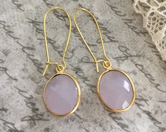Petal Pink Stone Earrings