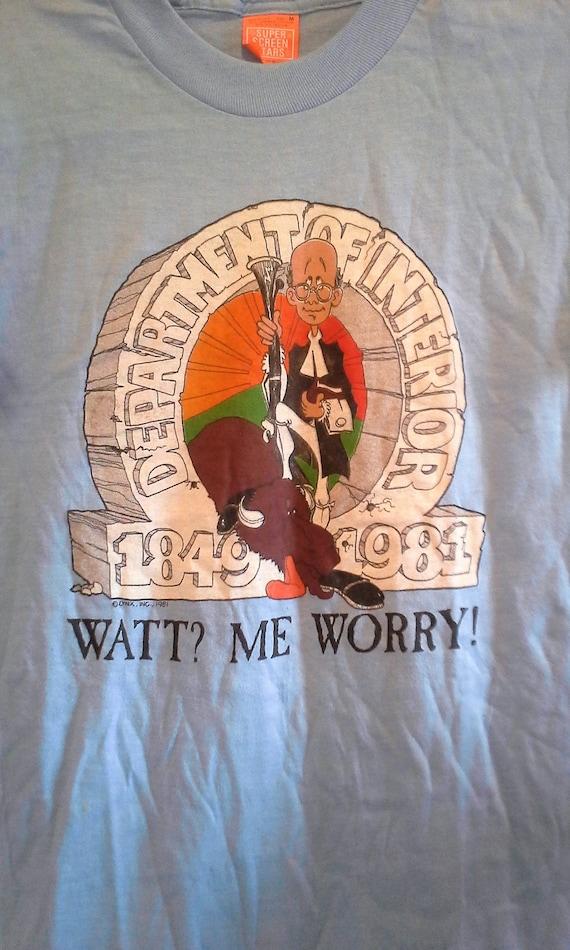 """1981 James Watt - Dept of Interior Vintage """"Watt?"""
