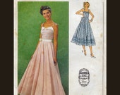 Simplicity 9008 Gunne Sax Jessica McClintock Designer Prairie Sundress Dress with Princess Seam and Full Skirt 1970s Sewing Pattern Bust 34