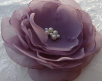Victorian Lilac Flower Clip Hair Fascinator Bridal Headpiece Wedding Hair Accessories Bridesmaid Gift  Clip Bridal Hair Accessory Brooch