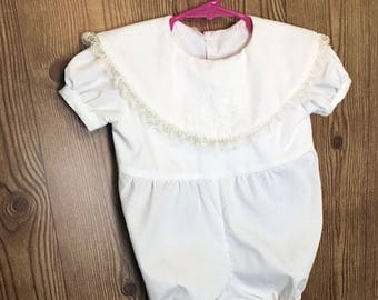 Baby Bubble, Off White Bubble, Christening Bubble, Baby Romper, Girl Romper