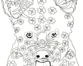 Kleurplaten Voor Volwassenen Liefde.Thai Ridgeback Instant Downloaden Kleurplaat Boeken Voor Etsy