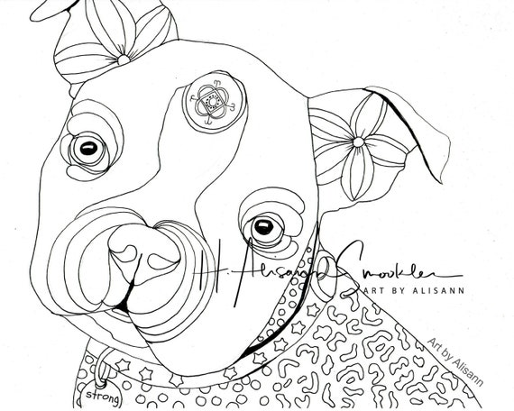 Boston Terrier Boston Bull Terrier Dog Coloring Page Instant Download