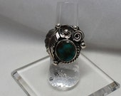 Navajo Kingman Turquoise and Sterling Silver Ring Size 7