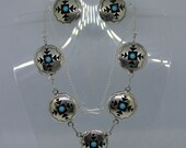 Turquoise and Sterling Silver Necklace Set