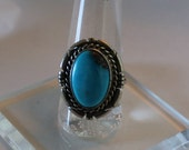 Red Mountain Turquoise and Sterling Silver Ring