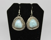 Larimar and Sterling Silver Earrings
