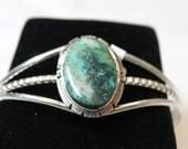 Turquoise Mtn Turquoise and Sterling Silver Cuff Bracelet