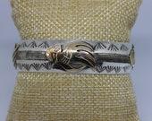 Sterling Silver 12K Gold filled Cuff Bracelet