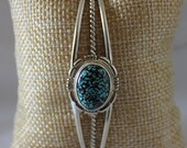Kingman Web Turquoise And Sterling Silver Cuff Bracelet