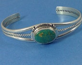 Steling SIlver Turquoise Cuff Braclet