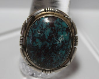 10.4 ct Gemstone E01-004-D-TM 19x10x6.5 mm Cabochon Natural Rare Thunder Mountain Turquoise Backed