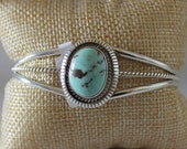 Dry Creek Turquoise and Sterling Silver Bracelet