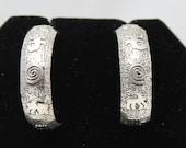Sterling Silver Petroglyph Post Earrings