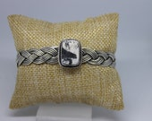 White Buffalo Turquoise and Sterling Silver Cuff Bracelet