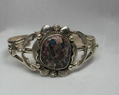 Navajo Dry Creek Turquoise and Sterling Silver Bracelet