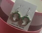 Zuni Multi Stone Gecko Shape Hook Earrings