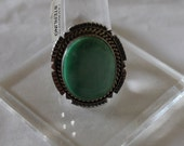 Broken Arrow Turquoise and Sterling Silver Ring