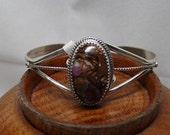 Sterling Silver and Boulder Opal Bracelet